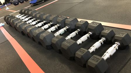 The F45 Highgate gym has made all weights and equipment individual to each person. Picture: Franki B