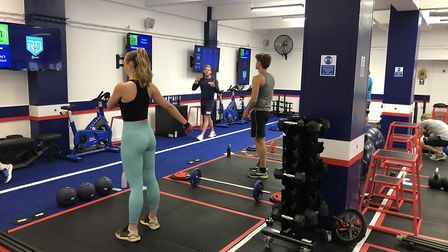 The F45 Highgate gym Red Diamond class. Picture: Franki Berry