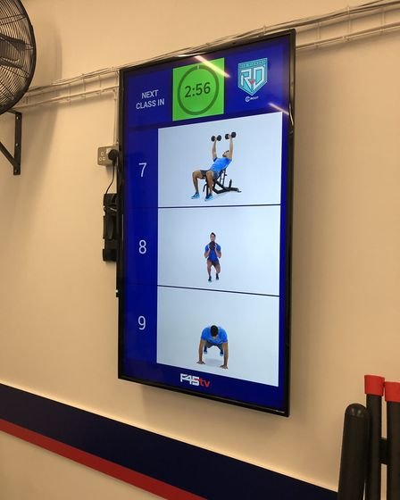 The F45 Highgate's Red Diamond class involved following instructions on a screen. Picture: Franki B