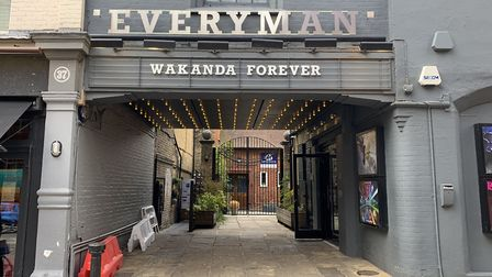 The Everyman cinema in Hampstead paid tribute to Chadwick Boseman, who died on Friday, with the slog