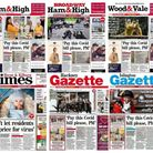 North London front pages, dated September 3, 2020. Picture: Archant