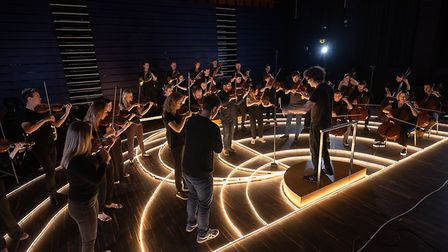 The Aurora Orchestra play Kings Place, where they have a residency. Picture: Simon Weir