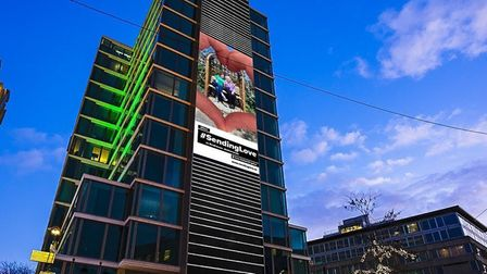 Joan and Alison's picture on a billboard in Eindhoven, Netherlands. Picture: Talon Outdoor and Grand