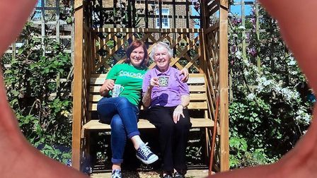 The photograph submitted of Joan Miller and her daughter Alison Hall.