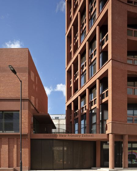 Architects Henley Halebrown's new development at the junction of Kingsland Road and Downham Road. P