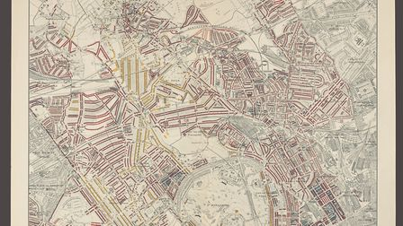 Booth's Poverty Maps collected details of London's residential areas and graded them in terms of wea