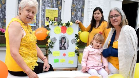 Pam McNally, Natasha Howes and her daughter Penny, and Sharon Holland are hoping to raise awareness
