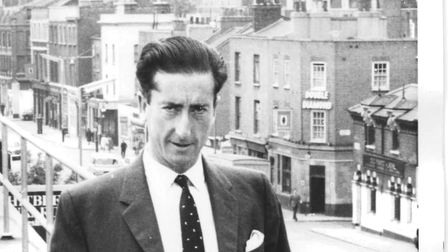 John Bernard Potter on the roof of the Hackney Gazette offices in Dalston. Picture: Courtesy of the