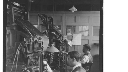 Linotype compositors were machines used in past to print newspapers and other publications and were