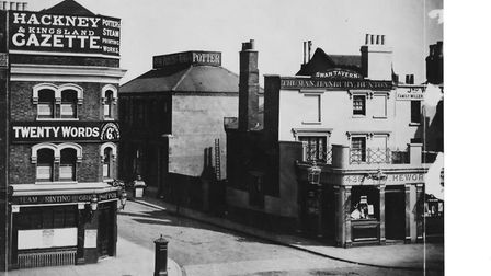 Corner of 505 Kingsland Road and former home to the Hackney Gazette and Potters Press. Picture: Cou