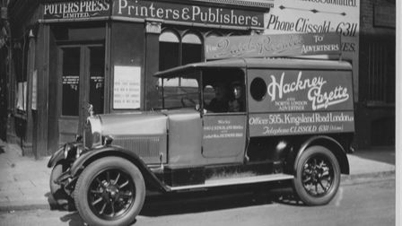 Hackney Gazette delivery van. Picture: Courtesy of the Potter Family