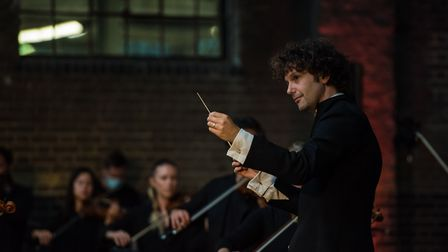 Aurora Orchestra played Beethoven's 7th symphony under the Handyside Canopy in Kings Cross on Septem