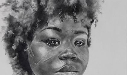Dorcas Boamah was painted as part of the Portraits for NHS Heroes project. Picture: Royal Free/Sarah