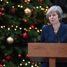 TURMOIL: Prime Minister Theresa May makes a statement in Downing Streeet ahead of Wednesday's confid