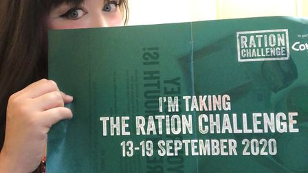 Frances Forbes-Carbines is taking the 'ration challenge'. Picture: Frances Forbes-Carbines