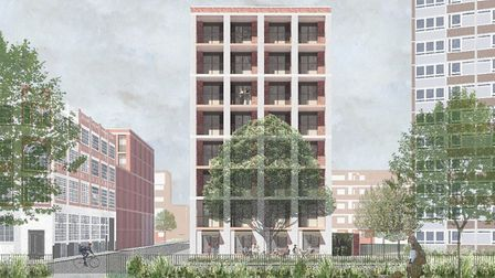A CGI of the Wimbourne Street plans. Picture: Submitted by Hackney Council