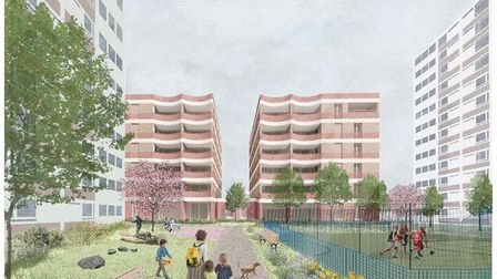 A CGI of the new Buckland Street. Picture: Submitted by Hackney Council