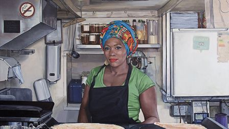 A portrait of Veronica Philocles who works at Hampstead Creperie by Matt Phillips whose debut solo s