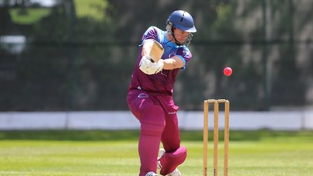 Callum Jackson of Hampstead in batting action during the Middlesex County Premier Division (pic: Geo