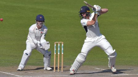 Middlesex's Martin Andersson bats against Lancashire