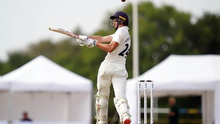 Middlesex's Martin Andersson in action during day one of The Bob Willis Trophy match at Radlett Cric