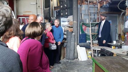 Packed back stage tours at the Seagull theatre over the weekend. Picture: Paul King