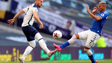 Tottenham Hotspur's Matt Doherty (left) and Everton's Richarlison battle for the ball during the Pre