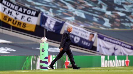 Tottenham Hotspur manager Jose Mourinho during the Premier League match at the Tottenham Hotspur Sta