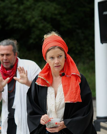 Polite Conversation is an outdoor play performed on the Tea Lawn at Lauderdale House. Picture: Willi