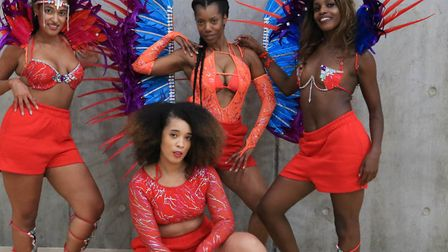 """Rosaleen and her Afrocafitness """"tribe"""" as she calls them, performing at Clissold leisure centre. Pic"""