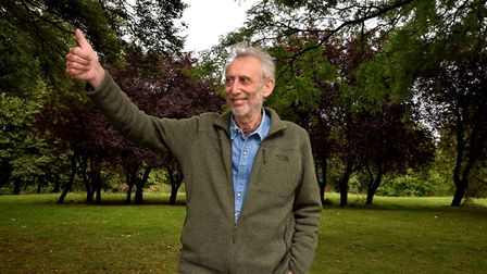 Muswell Hill poet Michael Rosen back at Alexandra Palace after spending 47 days in intensive care wi