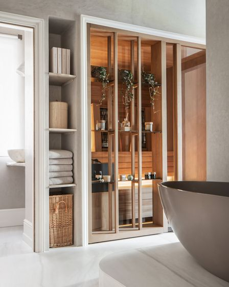 The guest bedroom spa suite, which features a sauna and steam room. Picture: Vigo Jansons
