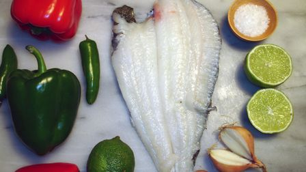 Ingredients for ceviche and buying plaice from Hampstead Seafoods