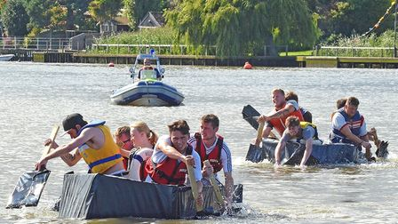 Lowestoft Lions Gala Day at Oulton Broad. Maiden in Distress competition. Pictures: MICK HOWES