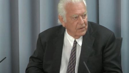 Lord Owen, the former health secretary at the Infected Blood Inquiry. Picture: Infected Blood Inquir