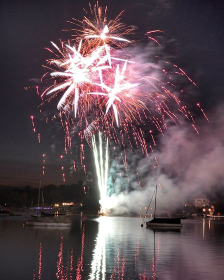 The popular fireworks display at Oulton Broad is a highlight of Gala Day. Picture: Mick Howes