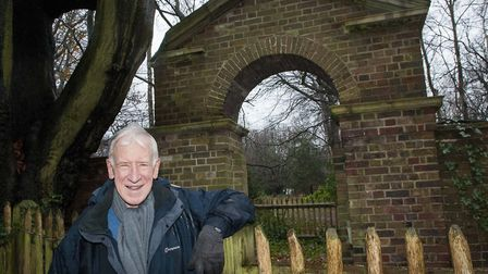 Michael Welbank at Pitts Arch in Pitts garden on Hampstead Heath. Picture: Nigel Sutton