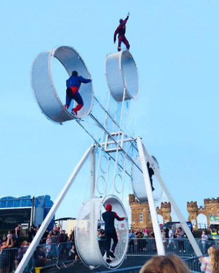 The Vander Brothers Superheroes Space Wheel stunt show will be the highlight of the Lions Gala Day a
