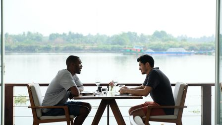 Lewis Parker Sawyers and Kit Henry Golding in Monsoon