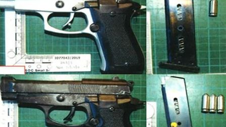 The guns the gang was driving around with. Picture: Met Police
