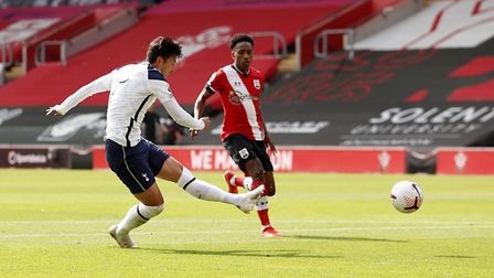 Tottenham Hotspur's Son Heung-min scores his side's second goal of the game during the Premier Leagu
