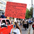 Hundreds of protesters marched from Old Street to Islington Green to complain about road closures i