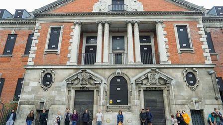 Residents object to changes to plans to redevelop Haggerston Baths. Picture: Niall Crowley