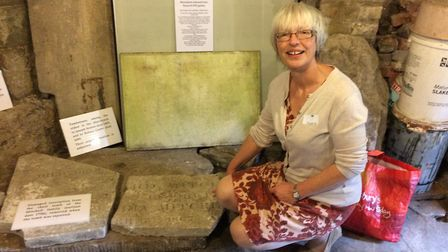 Victoria Midwinter, who found the the 'Faithful Servants' memorial behind the shed in her Muswell Hi