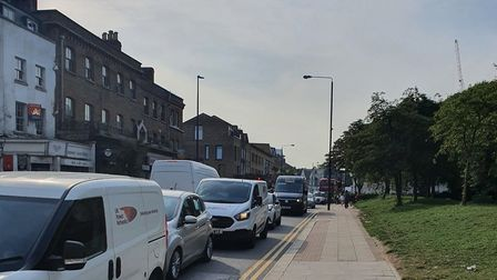 Hackney Road congestion. Picture: Baydul Alom