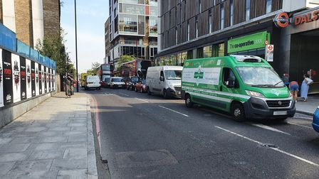 Traffic outside Dalston Junction station. Picture: Baydul Alom