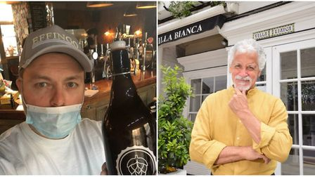 Pub owner Ben Caudell (left) and Hampstead restauranteur Rinaldo Mollura fear for the hospitality in