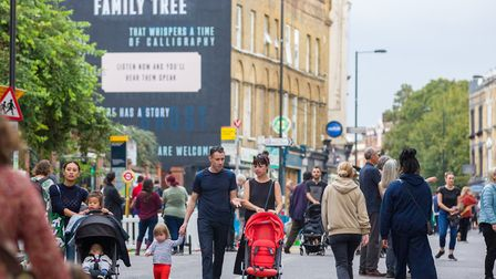 Car-free day in Stoke Newington Church Street. Picture: Hackney Council