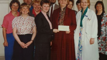 Helen Taylor Thompson with Mildmay colleagues. Picture: Mildmay