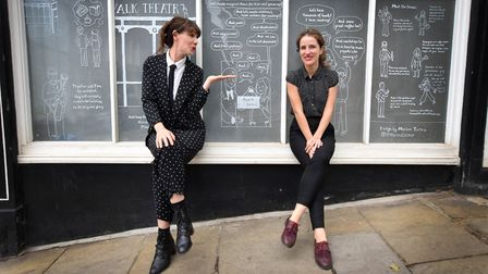 Zina Drouche, theatre director, and Marina Turmo, creative manager, outside the Well Walk Puppet The